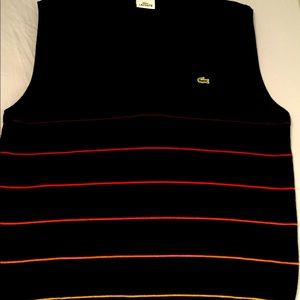 Lacoste men's XL wool vest made in France